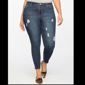 Eloquii distressed skinny jeans NWT size 22